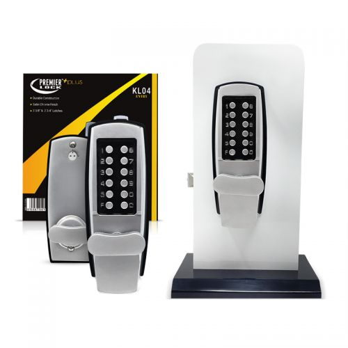 Mechanical Keyless Entry Lock with Combination pushbuttons-Jumbo Turning Knobs-Satin Chrome